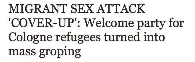 Invandrare attackerade i koln